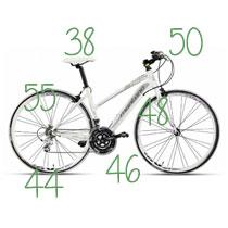 Taille VTT, vélo de ville, VTC et vélo de route